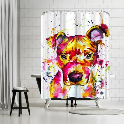 Allison Gray Puppy Shower Curtain