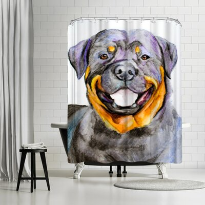 Allison Gray Rottweiler Shower Curtain