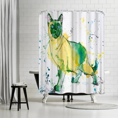 Allison Gray Siamese Cat Shower Curtain