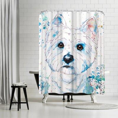 Allison Gray West Highland Terrier Shower Curtain