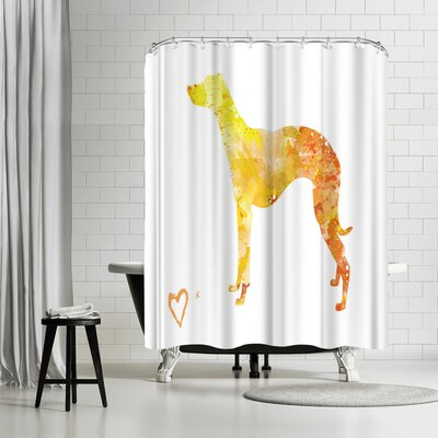 Allison Gray Whippet Shower Curtain