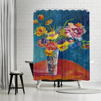 Sunshine Taylor Flores De Fiesta Shower Curtain