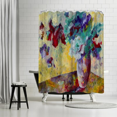 Sunshine Taylor Lemon Chiffon Light Shower Curtain