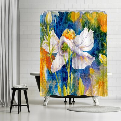 Sunshine Taylor Matilija Magic Shower Curtain