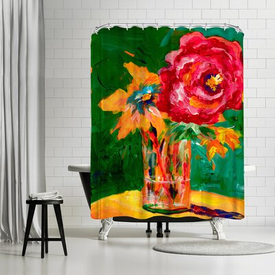 Sunshine Taylor Big Flower Shower Curtain