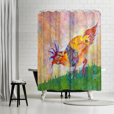 Sunshine Taylor Chicken Shower Curtain