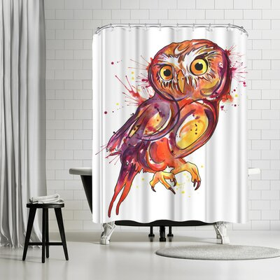 Solveig Studio Red Owl Shower Curtain