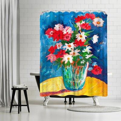Sunshine Taylor Large Flower Vase Shower Curtain