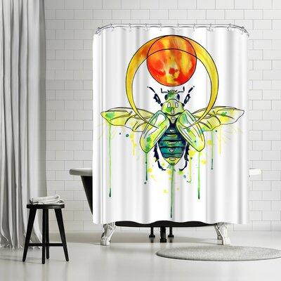 Solveig Studio Scarab Beetle Shower Curtain