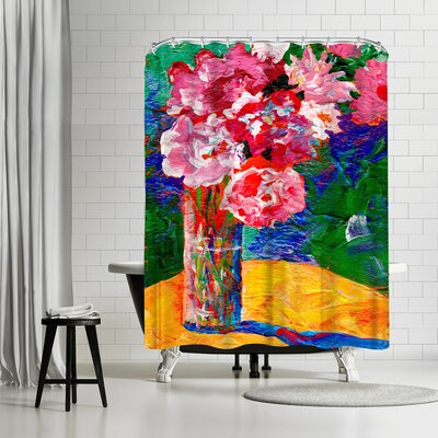 Sunshine Taylor Flowers Background Shower Curtain