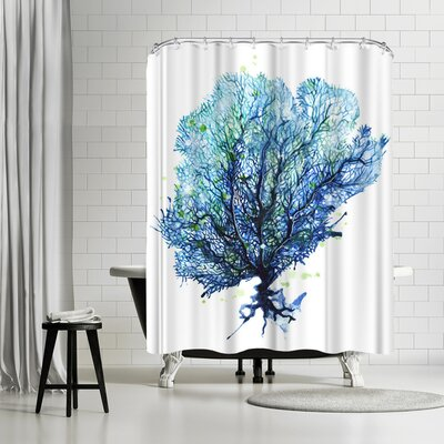 Solveig Studio Sea Fan Aqua Shower Curtain