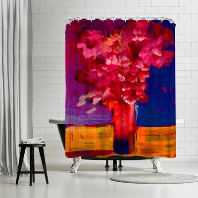 Sunshine Taylor Red Flower Bunch Shower Curtain