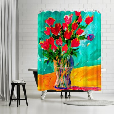 Sunshine Taylor Roses Shower Curtain