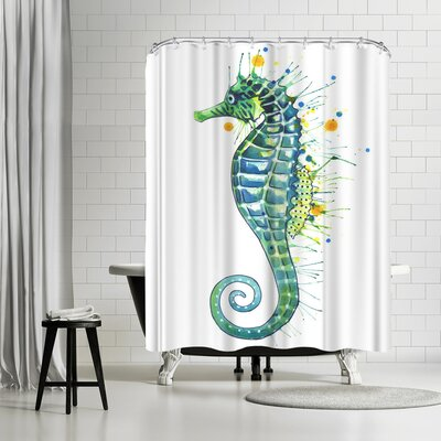 Solveig Studio Seahorse Green Shower Curtain