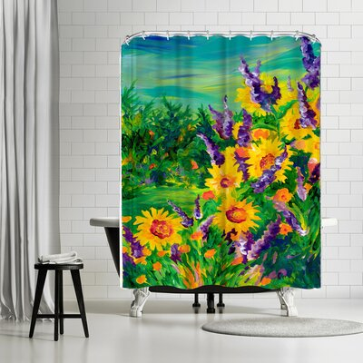 Sunshine Taylor Sunflower Fields Forever Shower Curtain
