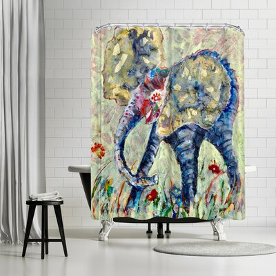 Sunshine Taylor Baby Elephant Shower Curtain