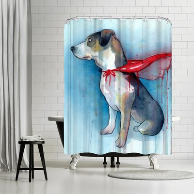 Sam Nagel Super Dog Shower Curtain
