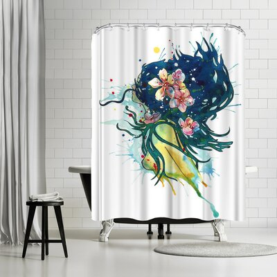 Sam Nagel Water Nymph Shower Curtain