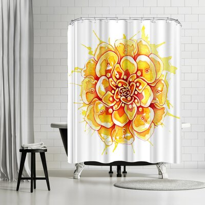 Sam Nagel Marigold Mandala Shower Curtain