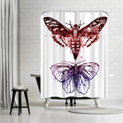 Sam Nagel Moths Shower Curtain