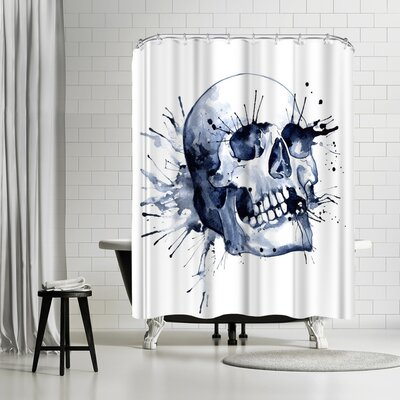 Sam Nagel Skull Shower Curtain