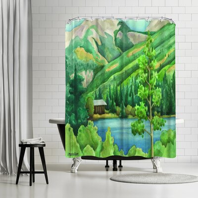 Three Mac Studio Alpine Shower Curtain