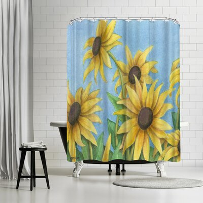 Three Mac Studio Sunflowers Shower Curtain