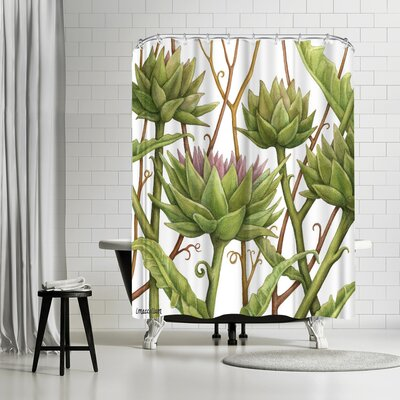 Three Mac Studio Artichok Shower Curtain