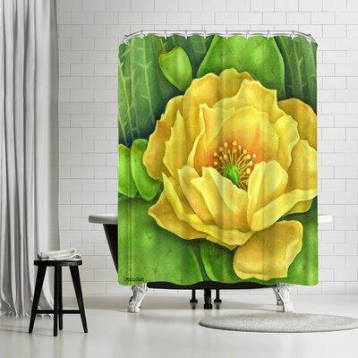 Three Mac Studio Cactus Flower Shower Curtain