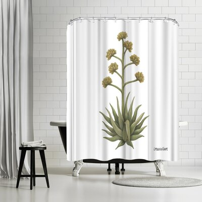 Three Mac Studio Century Plant Shower Curtain