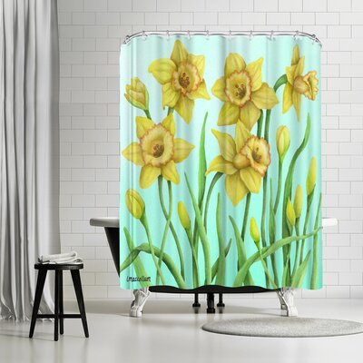 Three Mac Studio Daffodil Shower Curtain