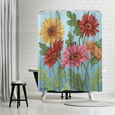 Three Mac Studio Gerbera Shower Curtain