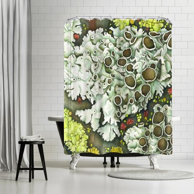 Three Mac Studio Lichen Shower Curtain