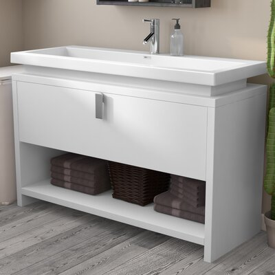 Gaynelle 50 Single Bathroom Vanity Set Base Finish: White
