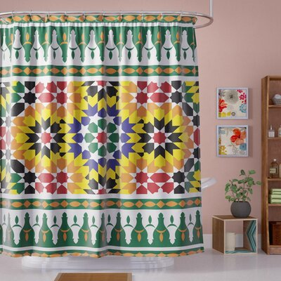 Atkinson Vibrant African Pattern Shower Curtain Size: 69 W x 84 L