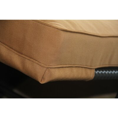 Rattan Box Cushion Sofa Slipcover Color: Brown