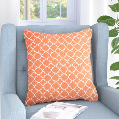 Engelmann Embroidered Throw Pillow Color: Coral