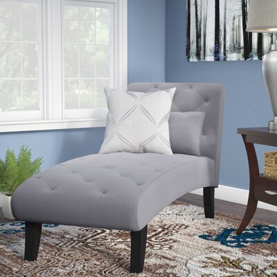 Gideon Ashley Chaise Lounge Upholstery: Gray