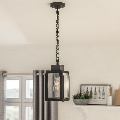 Abram 1-Light Mini Pendant Finish: Textured Black