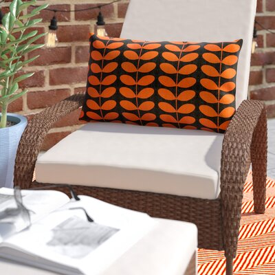 Faviola Mid-Century Modern Indoor/Outdoor Lumbar Pillow Color: Orange