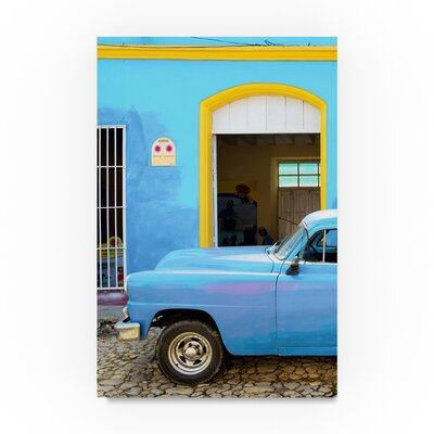 "'Cuban Blue IV' Photographic Print on Canvas Size: 19"" H x 12"" W PH01181-C1219GG"