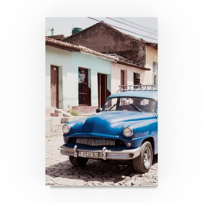 "'Blue Taxi in Trinidad IV' Photographic Print on Canvas Size: 24"" H x 16"" W PH01182-C1624GG"