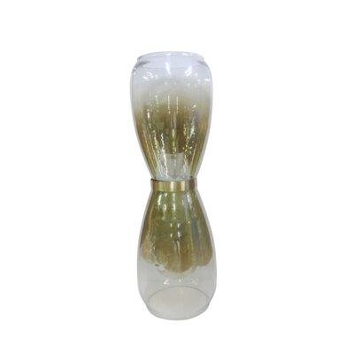 "Ellery Glass and Copper Lustre Floor Vase Size: 18.75"" H x 8"" W x 8"" D"