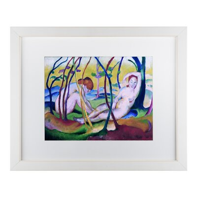 'Nudes Under Trees' Oil Painting Print on Wrapped Canvas AA00327-E1114MF