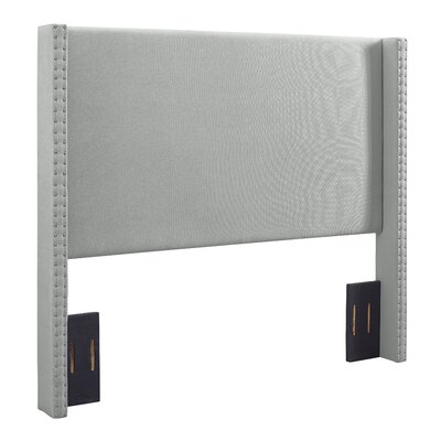 Bentson Upholstered Panel Headboard Size: Full/Queen, Upholstered: Dove Gray Linen