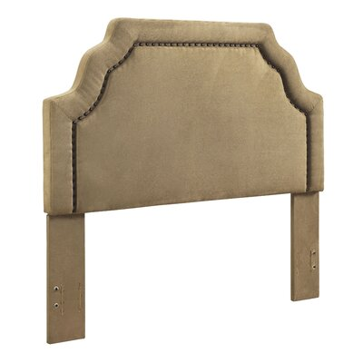 Stearns Upholstered Panel Headboard Size: Queen, Upholstered: Camel Microfiber