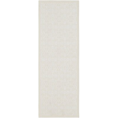 Kluge Hand Woven Wool Cream/White Area Rug