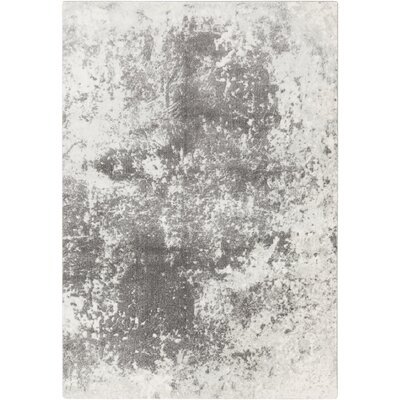 Carvell Modern Medium Gray/Charcoal Area Rug Rug Size: Rectangle 93 x 123