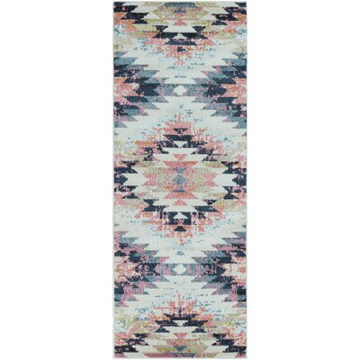 Natisha Bohemian White/Beige Area Rug Rug Size: Runner 27 x 73