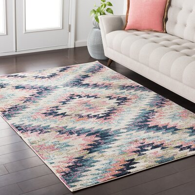 Natisha Bohemian White/Beige Area Rug Rug Size: Rectangle 93 x 123